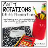 Math Rotations Editable Planning Pages