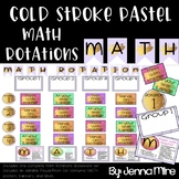 Math Rotations-Gold Stroke-Pastel Colors-Editable