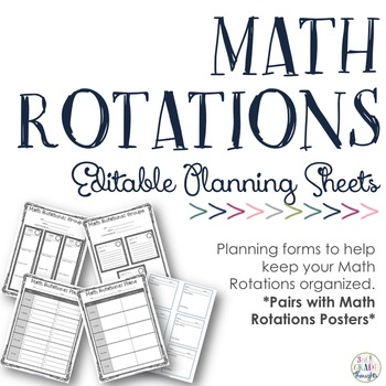 Math Rotations Planning Sheets {Editable PPT}