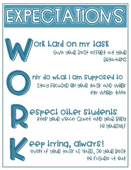 Math Rotations Posters: Calm and Cool