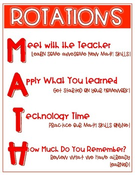 Math Rotations Posters: Primary Colors