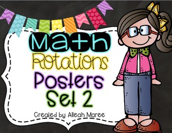 Math Rotations Posters Set 2 {Editable}