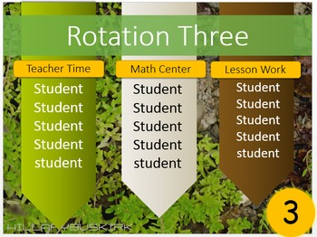 Math Rotations PowerPoint Editable
