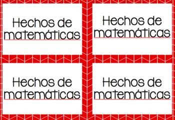 Math Rotations Spanish