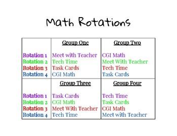 Math Rotations Student Hnadout
