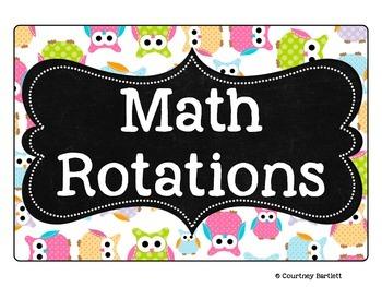 Math Rotations board
