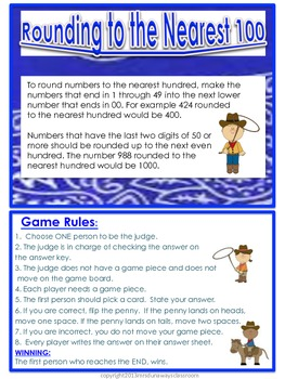Math Round-Up Bundled (rounding to 10 and 100)