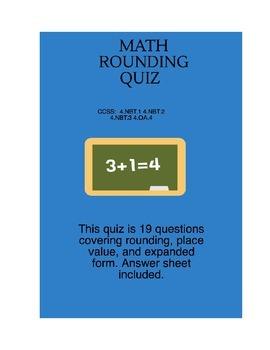 Math Rounding Quiz