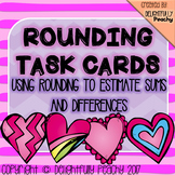 Math Rounding Task Cards- Valentine's Day Themed