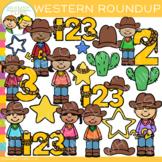 Math Roundup Western Clip Art