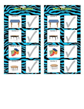 Math Routine Schedules Zebra Print