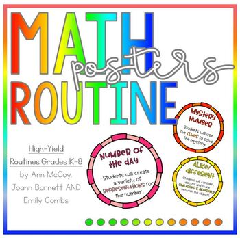 Math Routines Poster - High Yield Expectation