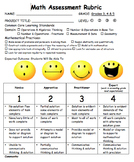 Math Rubric 3rd, 4th, 5th