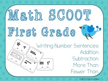 Math SCOOT First Grade Writing Number Sentences