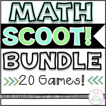 Math SCOOT! Games Bundle- 17 GAMES!