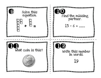 Math SCOOT for totals 20 and under