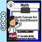 First Grade Math Games for the SMARTBoard Bundle