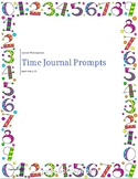 Math SOL 3.11 Time Journal Prompts