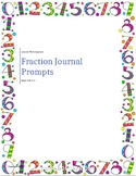Math SOL 3.3 Fractions Journal Prompts