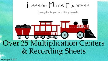Math SOL 3.5 Over 25 Multiplication Centers with Recording Sheets