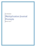 Math SOL 3.5 and 3.6 Multiplication Journal Prompts