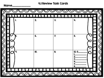 Math SOL 4.1 12 Task Cards for Review