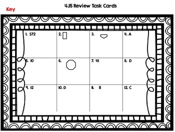 Math SOL 4.15-Patterns- 12 Task Cards for Review