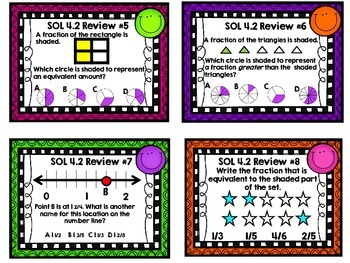 Math SOL 4.2 - 12 Task Cards for Review