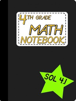 4th Grade Math SOL Notebook - 4.1 Number and Number Sense (Place Value)