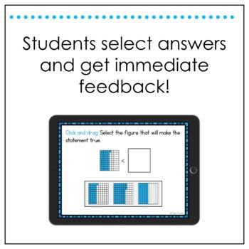Math SOL Review Digital Task Cards - Decimals Number Sense (SOL 4.3)