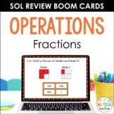 Math SOL Review Digital Task Cards - Fractions Operations (SOL 4.5)