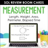 Math SOL Review Digital Task Cards - Measurement (SOL 4.7, 4.8, 4.9)