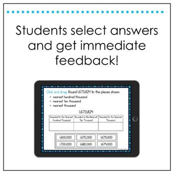 Math SOL Review Digital Task Cards - Number Sense (SOL 4.1)