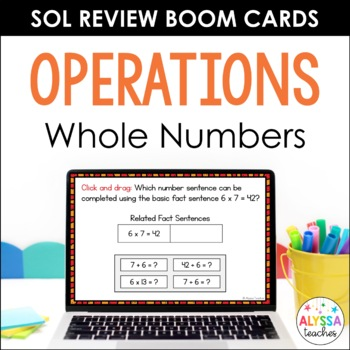 Math SOL Review Digital Task Cards - Operations (SOL 4.4)