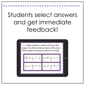 Math SOL Review Digital Task Cards - Probability (SOL 4.13)