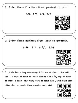 Math SOL Review- QR task cards