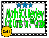 Math SOL Review Task Cards for 3rd Grade-Set 1