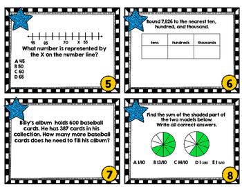 math sol review task cards for 3rd grade set 1 by allison harig tpt. Black Bedroom Furniture Sets. Home Design Ideas