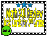 Math SOL Review Task Cards for 3rd Grade-Set 2