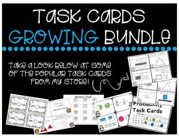 Math SOL Task Cards GROWING Bundle