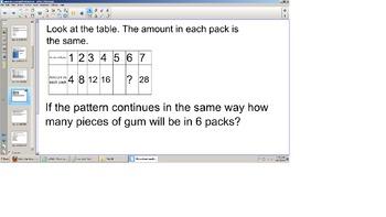 Math SOL practice review Third Grade Smart board.