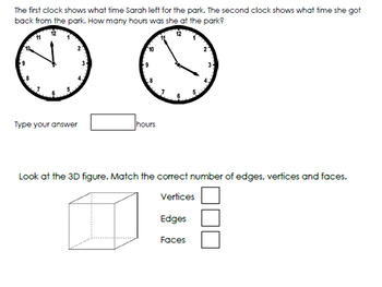 Math SOL review 3rd grade Geometry with TEI