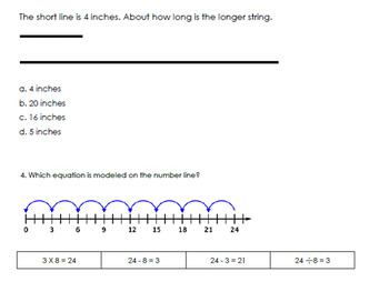 Math SOL review Multiplication and Division with TEI questions