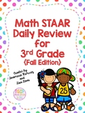 Math STAAR Daily Review for 3rd Grade {Fall Edition}