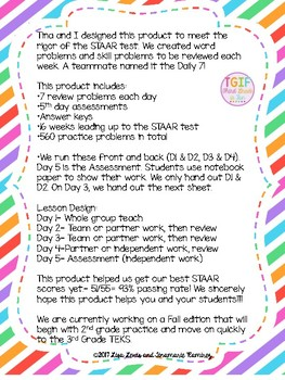 Math STAAR Daily Review for 3rd Grade {Spring Edition}