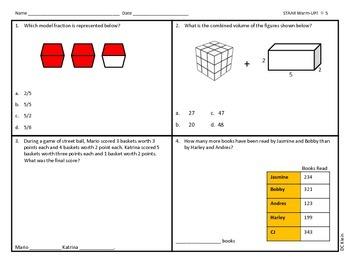 Math STAAR Freebie (4th Grade)