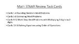 Math STAAR Prep Task Cards Set 1