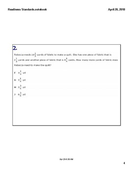 Math STAAR Review 7.3 B Task Cards
