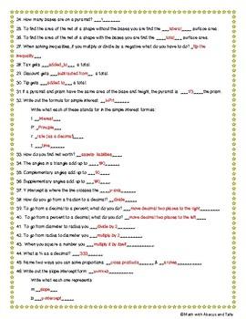 Math STAAR Review- 7th Grade TEKS