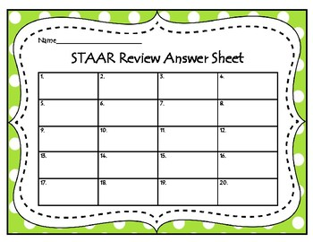 Math STAAR Review Task Cards